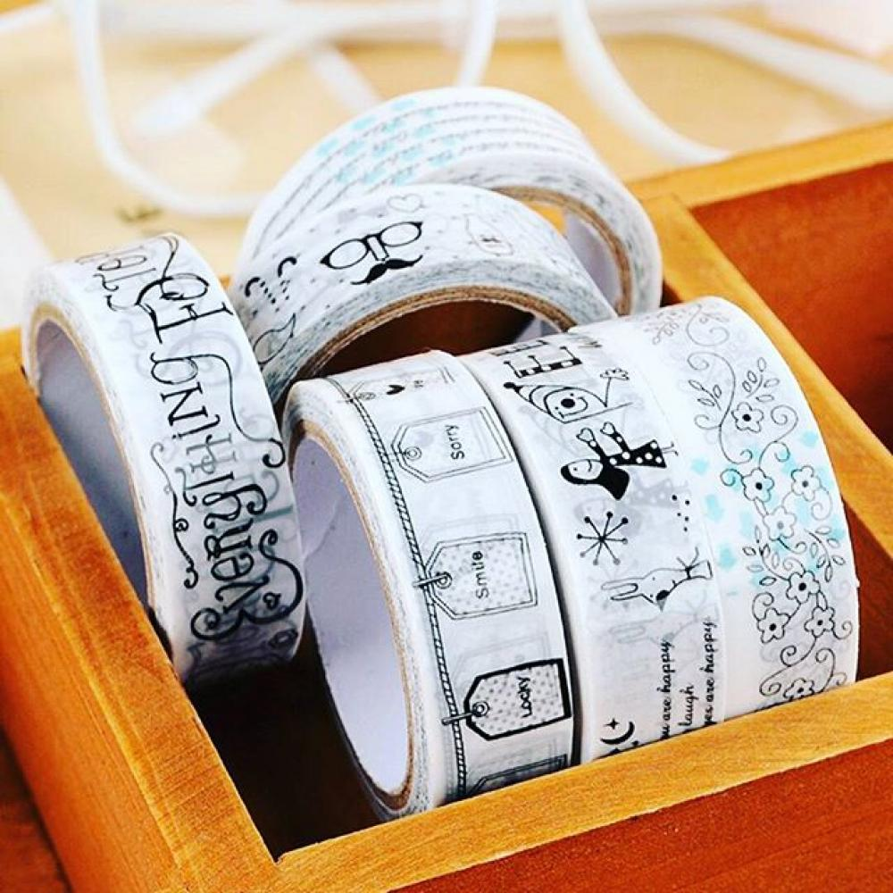 Masking Tape Black White Deco