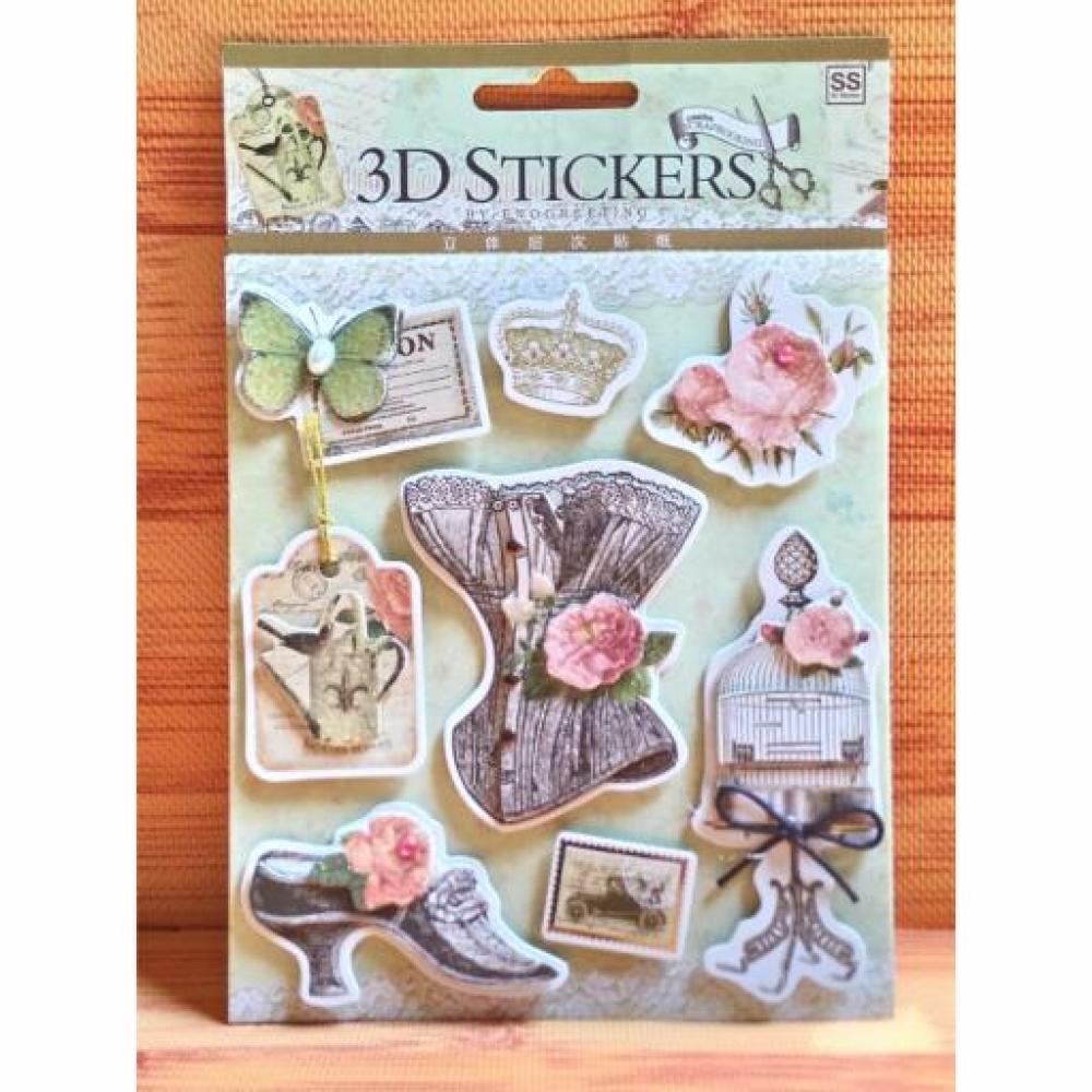 Scrapbook - 3D Sticker Med Afternoon (E)