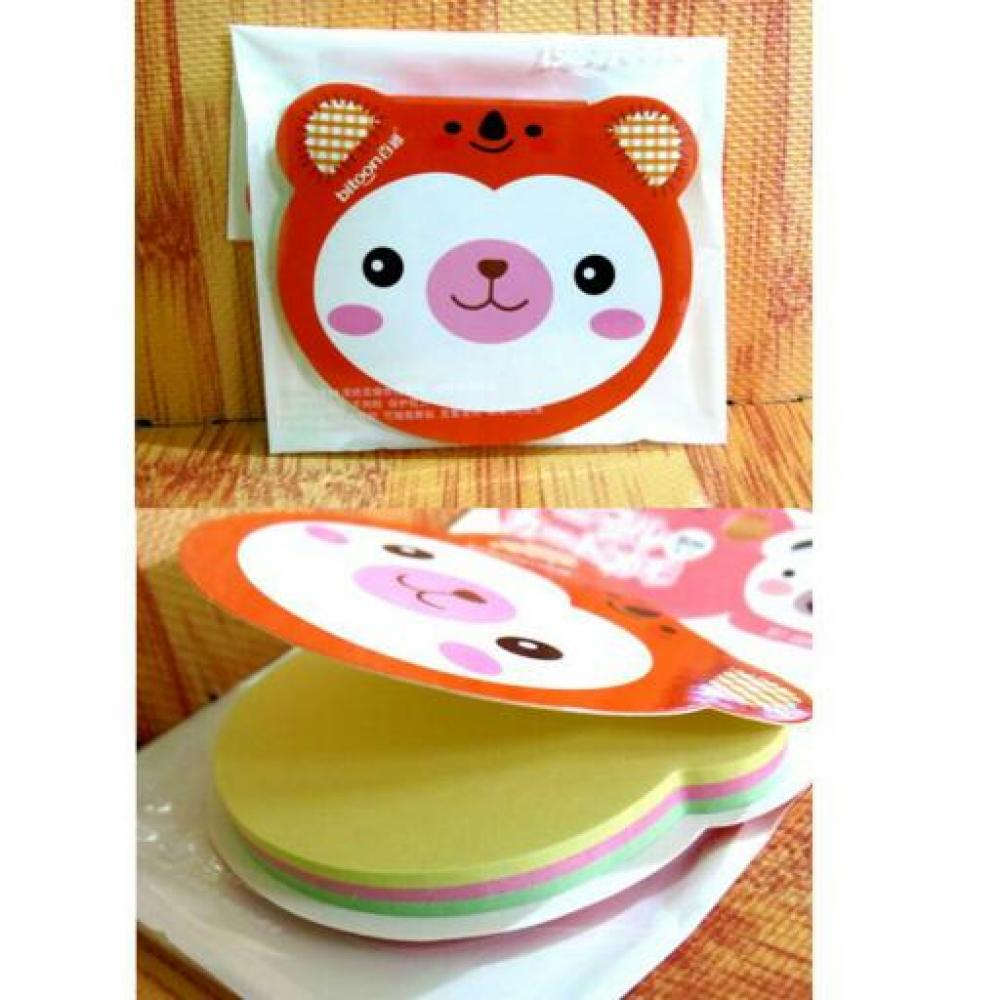 Sticky Note Bitoon Animal (Bear) - Post It / Memo Tempel