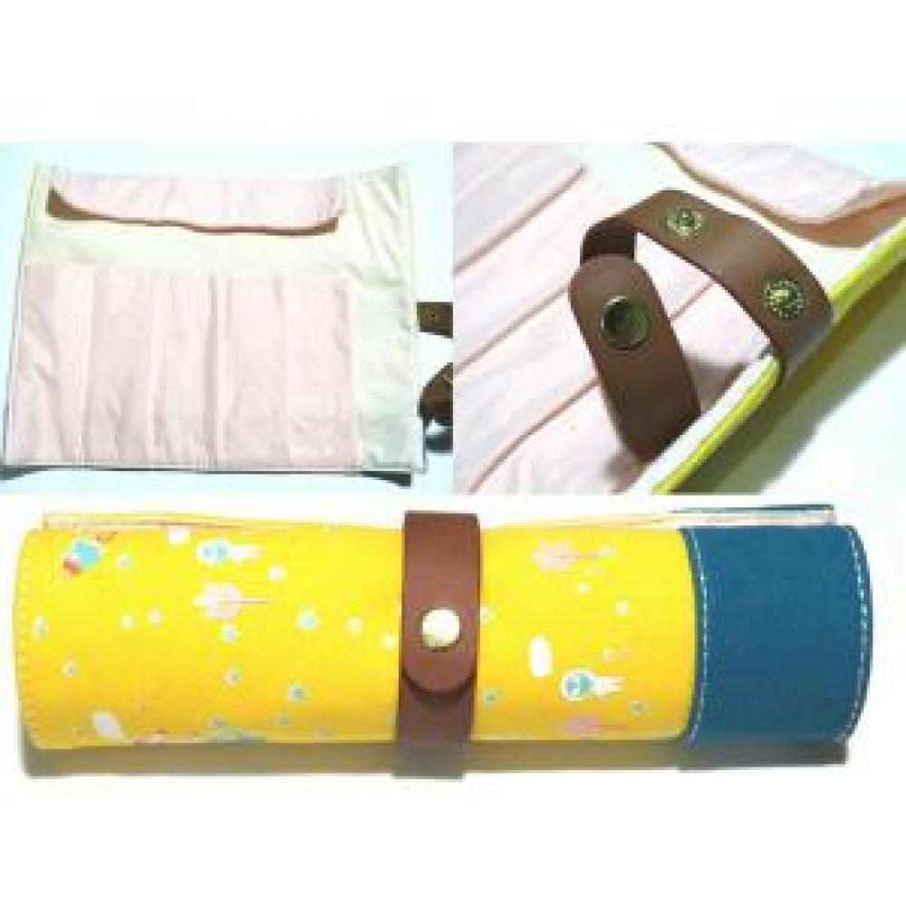 Pencil Case Roll: Space (Yellow) - Tempat Pensil Gulung