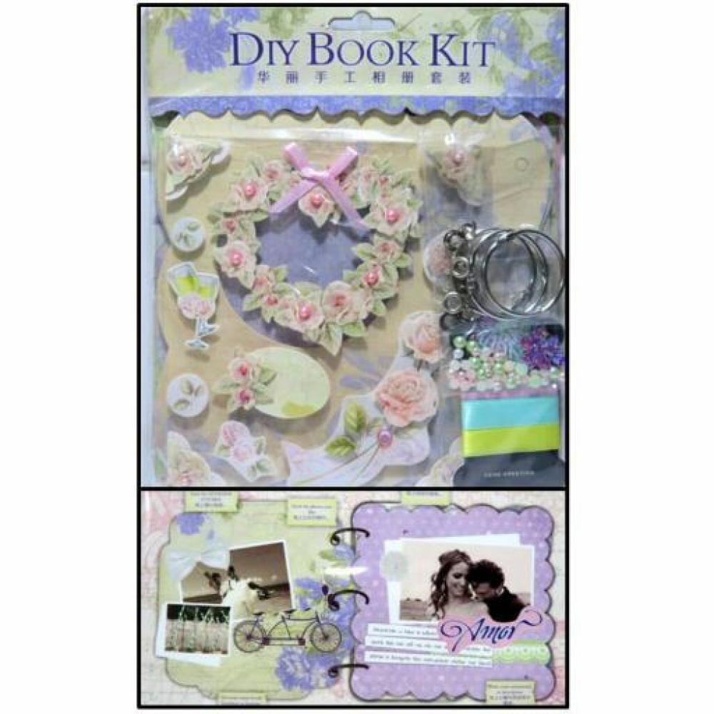 DIY Book Kit Square: Purple (Scrapbook)