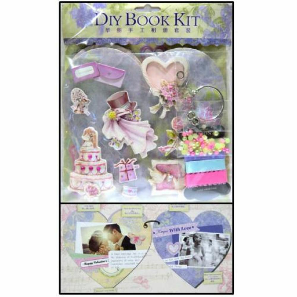 DIY Book Kit Heart: Purple (Scrapbook)