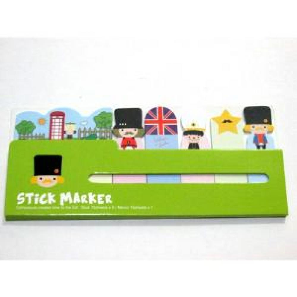 Sticky Note: London (Green) - Post It / Memo Tempel