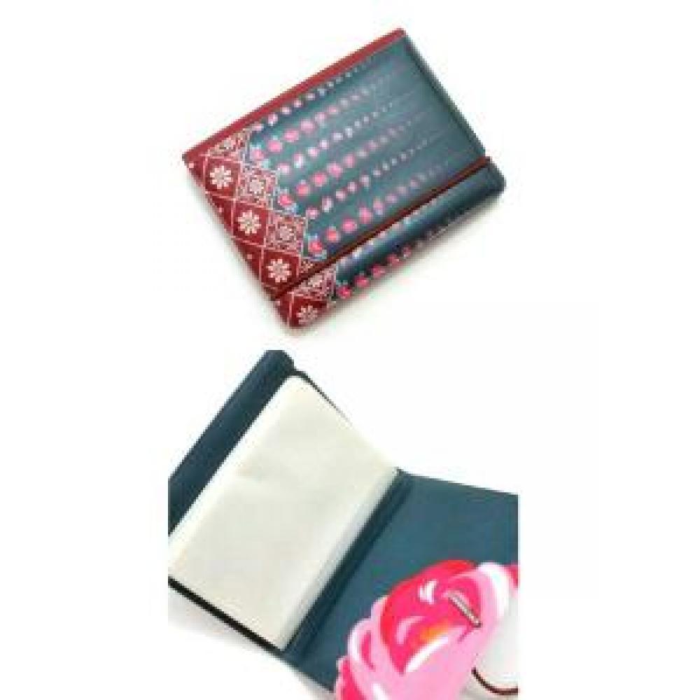 Card Holder: Floral (Dark Blue) - Tempat Kartu Nama / Dompet Kartu
