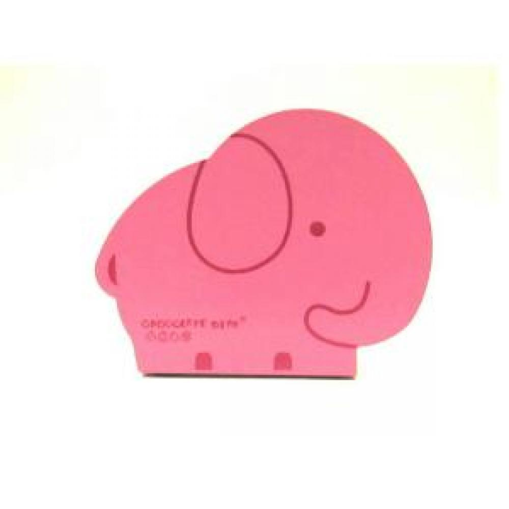 Mini Book Holder: Elephant (Pink) - Pembatas Rak Buku / Book End