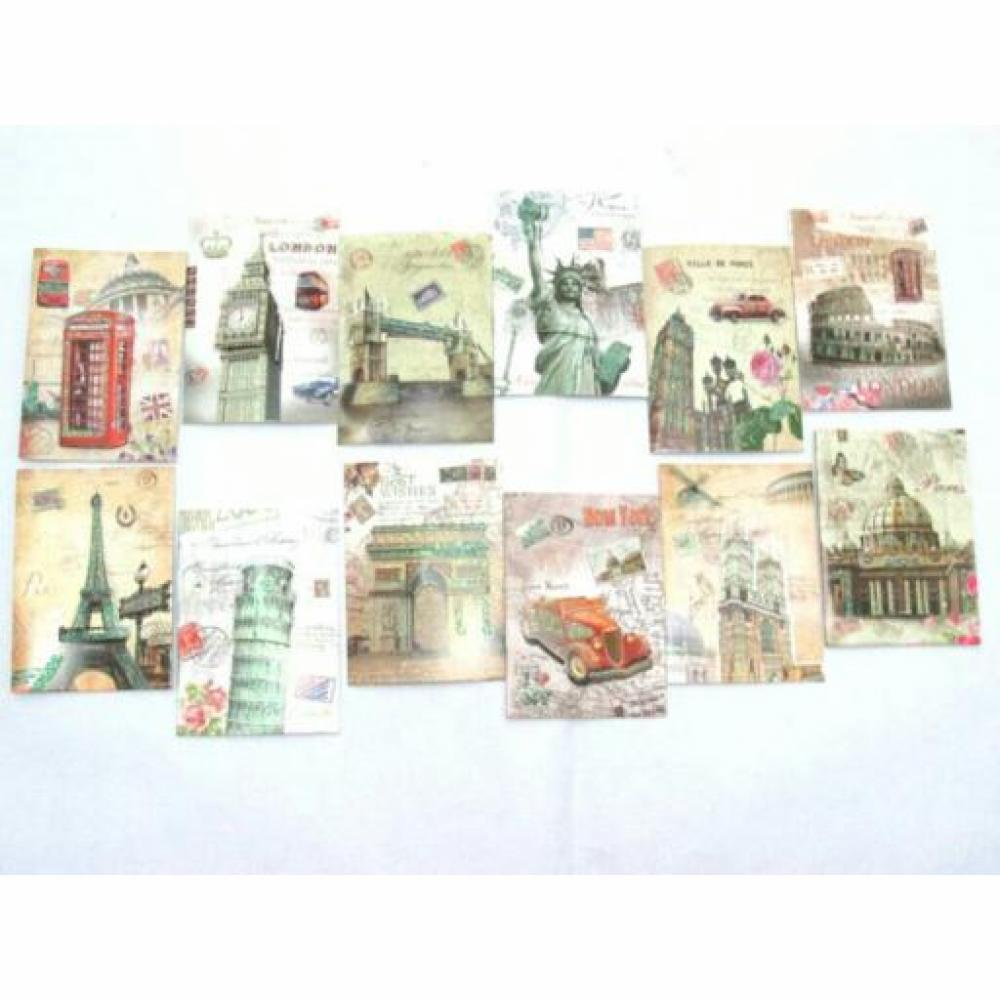 Thank You Card (Vintage) 4 Cards/Set - Kartu Ucapan