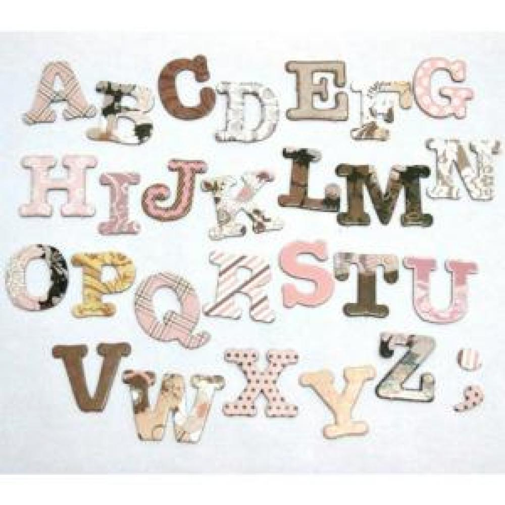 Chipboard Alphabet Elegant Flower - Scrapbook