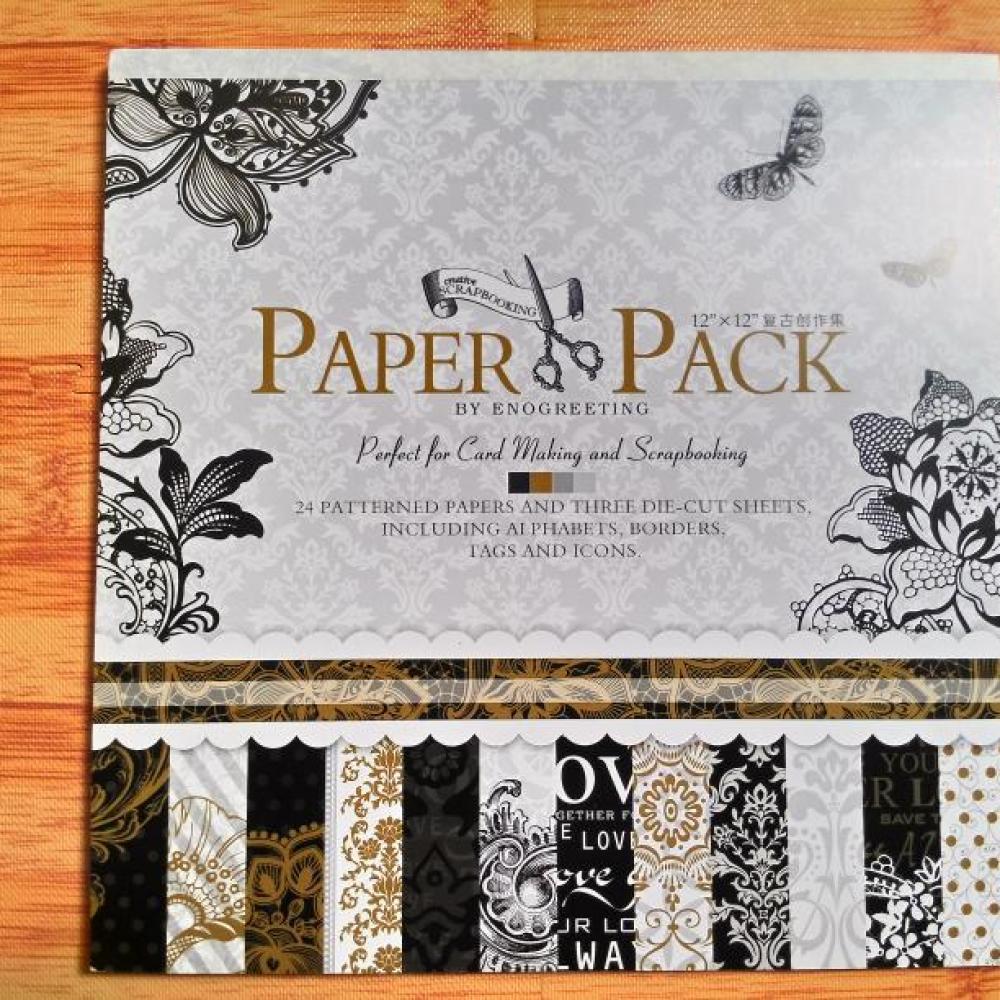Scrapbook Paper Pack Blossom (Black)