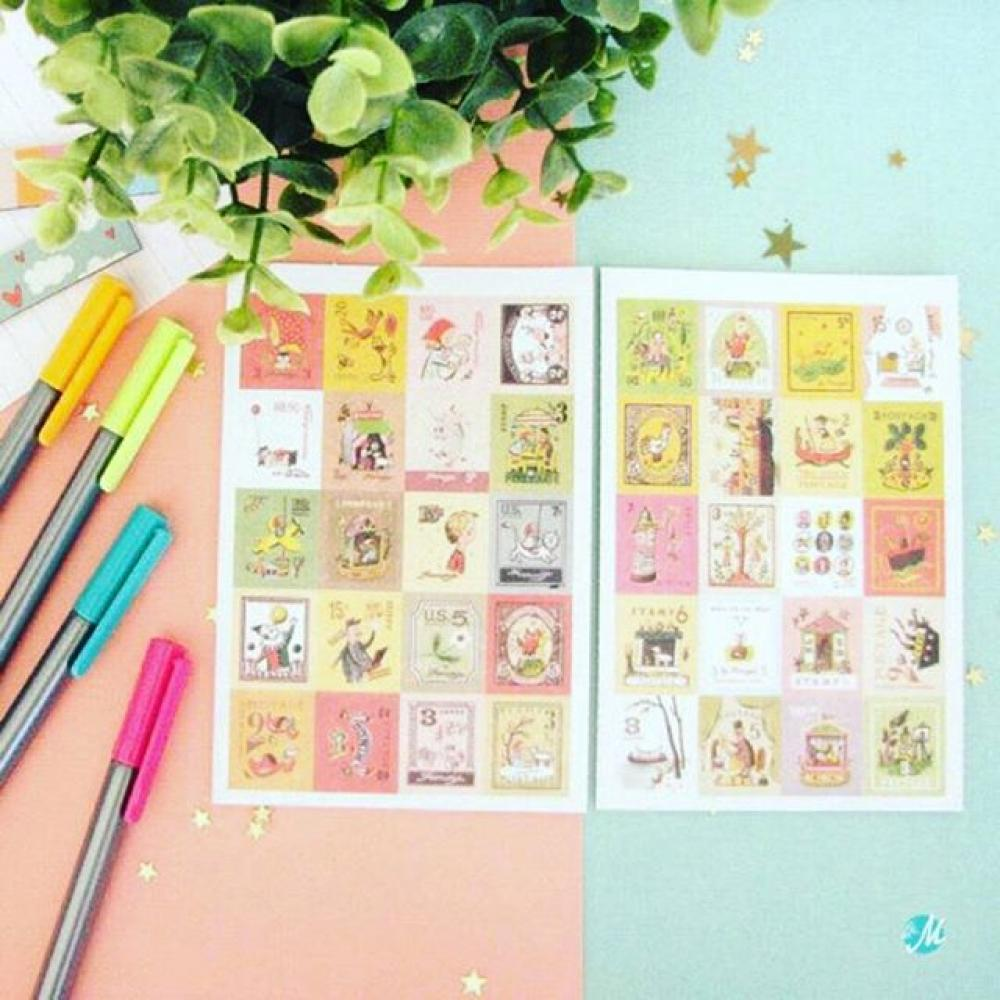 Francoise Stamp Stickers