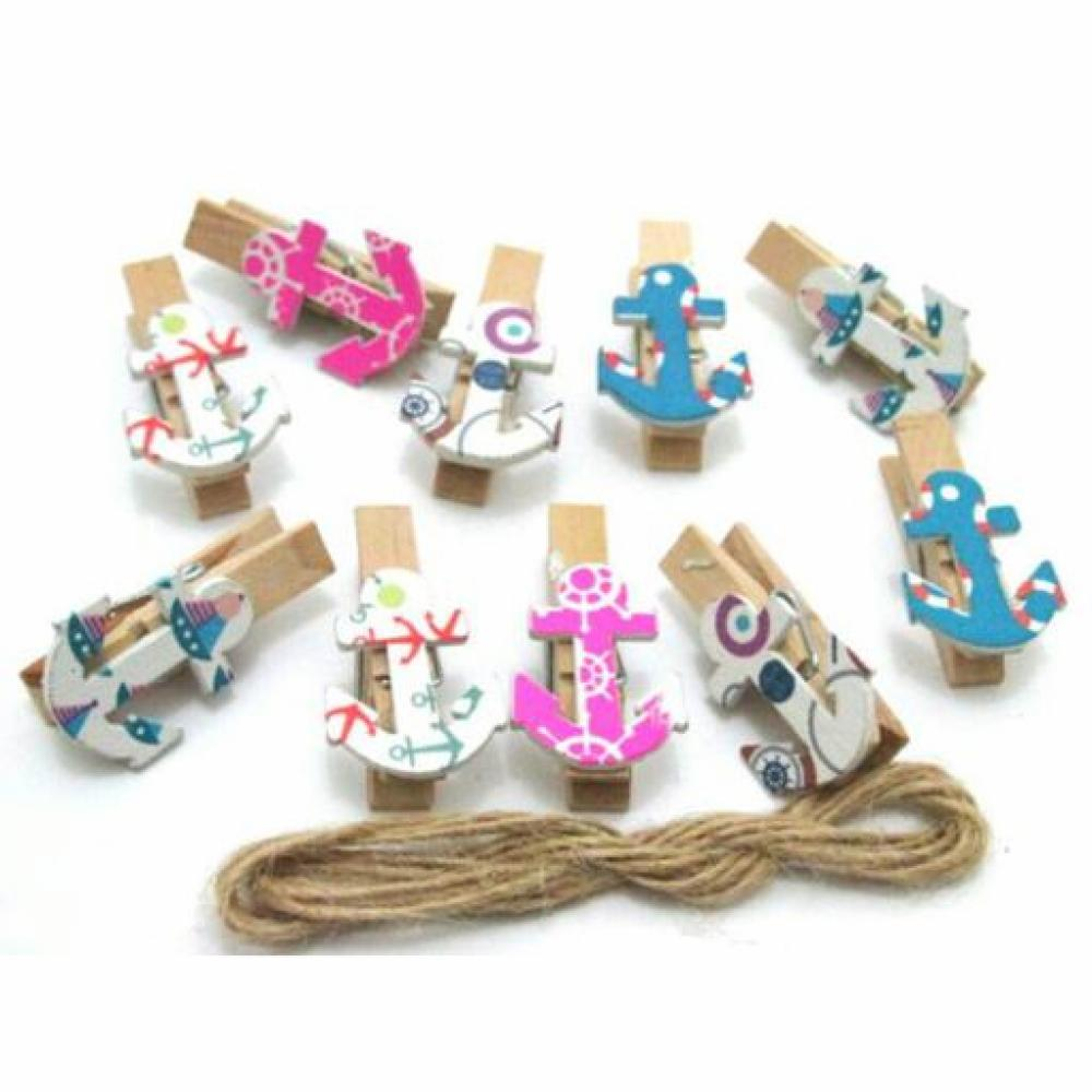 Wooden Clip: Anchor - Klip Kayu