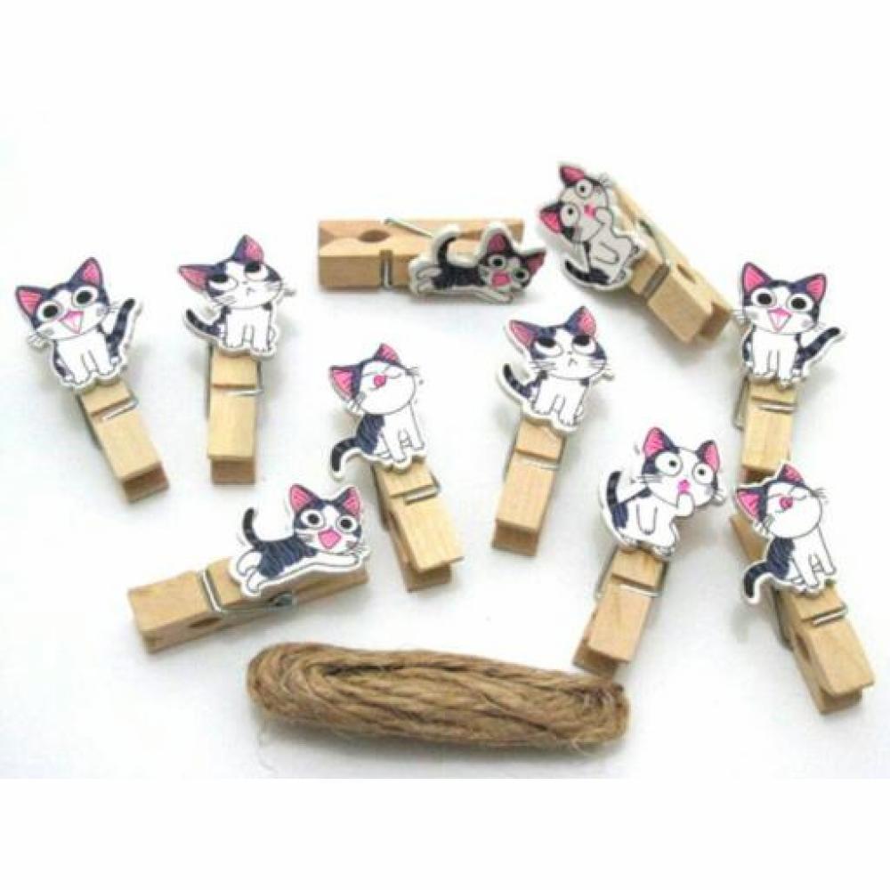 Wooden Clip: Cat - Klip Kayu