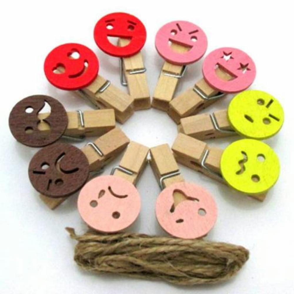 Wooden Clip: Smile - Klip Kayu