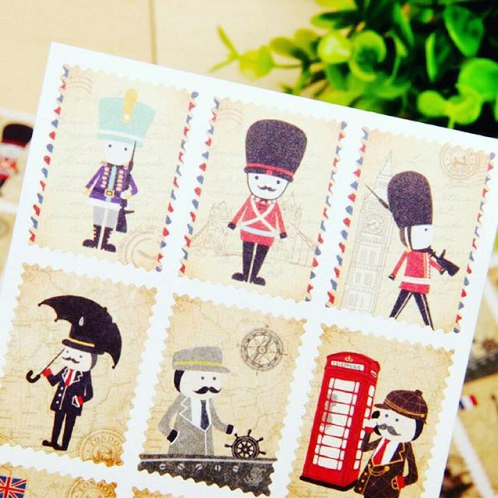 Hello Mr. Guard Stamp Stickers