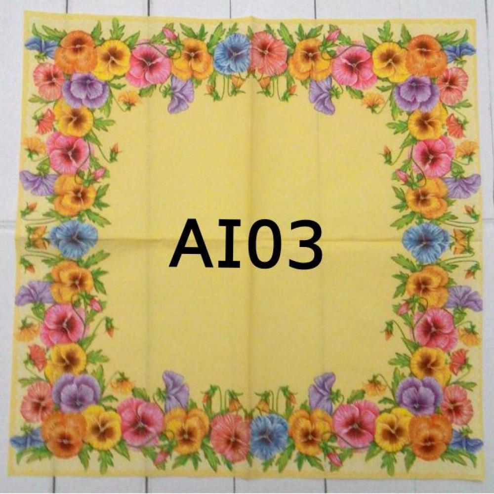 Napkin Decoupage/Tissue Paper Motif Flower